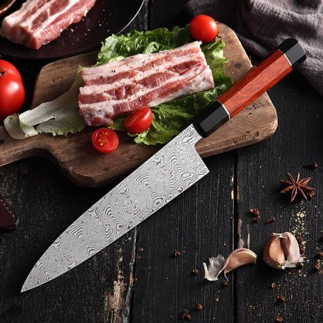 HEZHEN 210mm Gyuto Chef Knife Japanese 110 Layers Damascus Steel Kitchen Knives Professional Kitchen Knives Cooking Slicing Tool