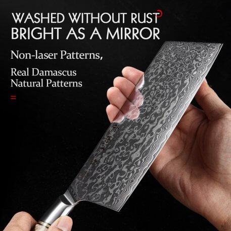 HEZHEN 6.8 Inch Cleaver Knife Professional 67 Layer Damascus Steel VG10 Japanese Cook Knife Meat Fish Vegetable Kitchen Knife