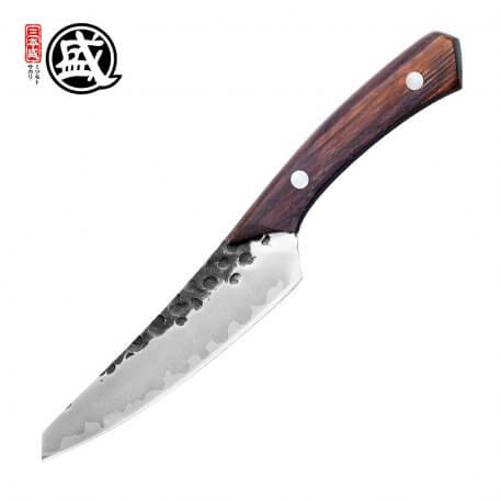 MITSUMOTO SAKARI 5.1''inch Japanese High carbon durable steel handcrafted petty knife Rosewood Handle gift BOX