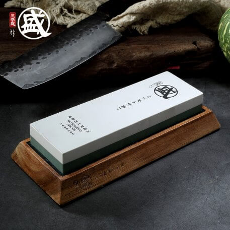 MITSUMOTO SAKARI 1000 3000 8000 10000 grit Japanese Double-sided sharpening stone For Knives With Non-Slip rubber and wood base