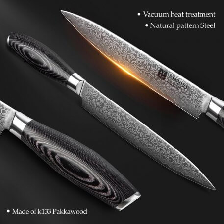 """XINZUO 8"""" Cleaver Knife Chinese Damascus Stainless Steel Kitchen Knife Multi Cooking Tools Meat Sashimi Knives Pakka Wood Handle"""