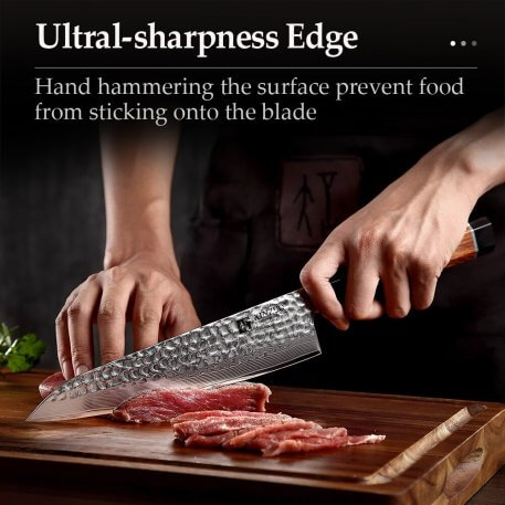 XINZUO Damascus Steel Kitchen Cutlery Sets vg10 Core 4PCS Chef Utility Cleaver Santoku Knives Stainless Steel Slicing Cook Tools