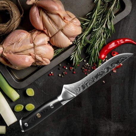 XITUO 6 inch boning knife 67 layer Damascus steel sharp cut meat professional pick bone slices kitchen chef special cooking tool