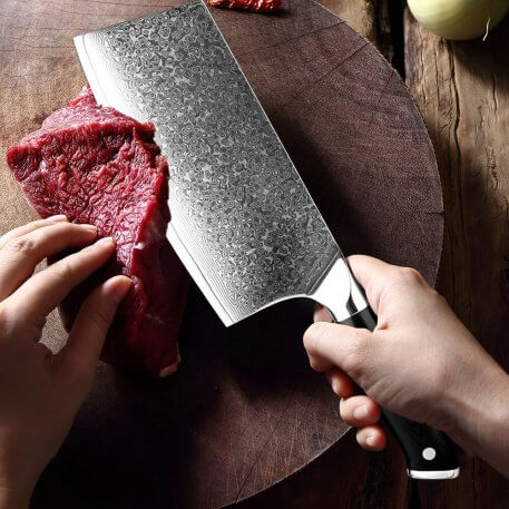 XITUO Damascus Knife Professional Chef Butcher Knife 67 Layers Damascus Steel Kitchen Knife G10 Handle Cleaver Santoku knife