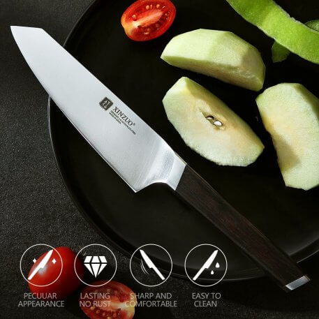 XINZUO 5'' Utility Knife High Quality Kitchen Knives Germany 1.4116 Steel Vegetable Carving Paring Knife Ebony Handle Best Gift.