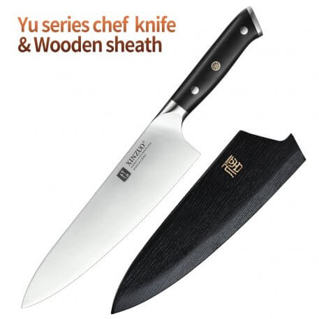 XINZUO 8.5'' inch Chef Knife High Carbon Din 1.4116 Slicing Stainless Steel German Kitchen KnivesMeat Tools with Ebony Handle