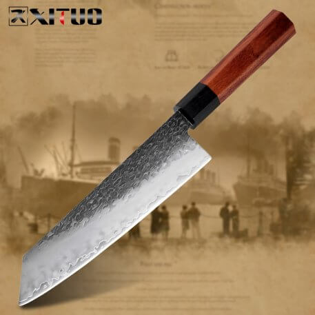 XITUO Chef Knife Three-layer Composite Steel Hand Forged Sharp Cleaver Santoku Kiritsuke Slicing Knife Home Kitchen Cooking Tool