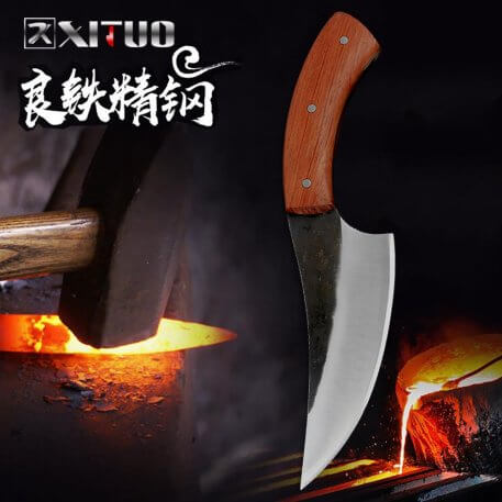 XITUO Full Tang Handmade Knife Kitchen Chef Knife Forged High-Carbon Clad Steel Butcher Knife Cleaver Filleting Slicing Tool Hot
