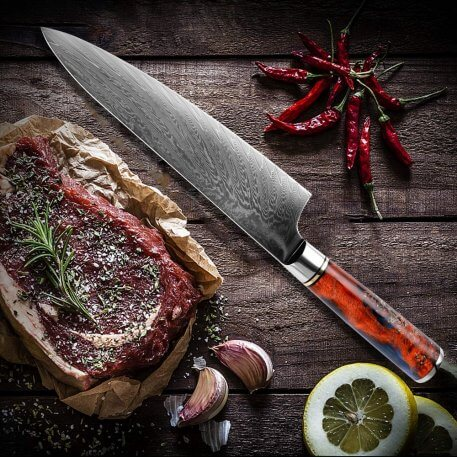XITUO Chef Knife Damascus VG10 Steel Professional Japanese Kitchen Knife Sharp Cut Cleaver Slicing Knives Stable Wooden Handle