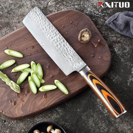 XITUO 4cr13 Stanless Steel Cleaver Knife Chef Knife Meat Fish Vegetable Fruit Knife Slicing Knife Kitchen Knife Cooking Tool