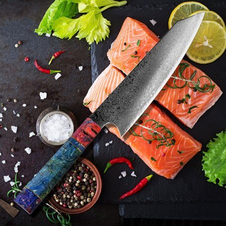 """XITUO Damascus Chef Knife 8"""" Inch Japanese Kitchen Knife Sharp Gyuto Slice Cleaver Santoku Stable Solid Wood Handle Cooking Tool"""