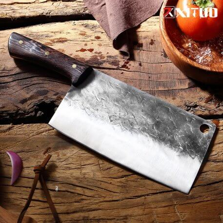 XITUO Bone chopper and meat cleaver Handmade Knife Hotel Kitchen Butcher Special Knife High Manganese Steel Forging Chef Tool