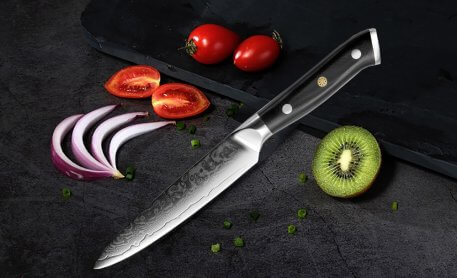 """XITUO damascus kitchen knives 5""""Inch 67 Layers japanese damascus steel VG 10 Chef knife Cleaver Paring Peeling Cooking tool gift"""