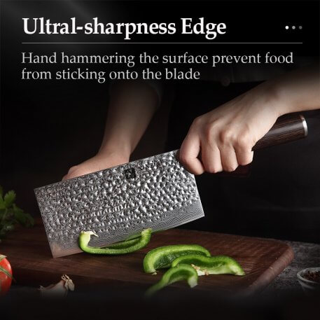 XINZUO 7'' Slicing Knife VG10 Japanese Steel Master Chef Kitchen Tool Damascus Stainless Steel Cleaver Knives Pakkawood Handle