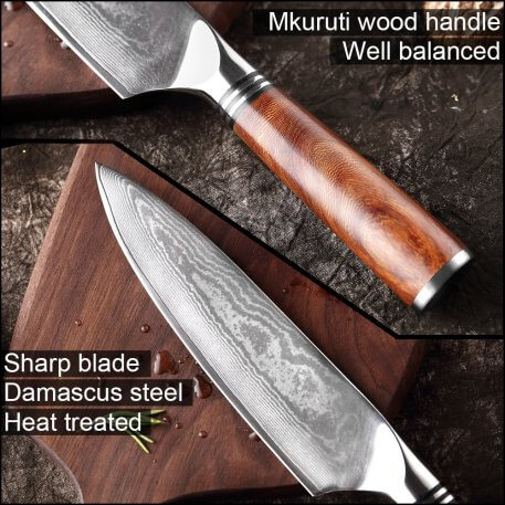 XITUO VG10 Japanese Damascus Steel Chef Kitchen Knives Sharp Professional Cooking Knife Utitlty Cleaver Mkuruti Wood Handle New