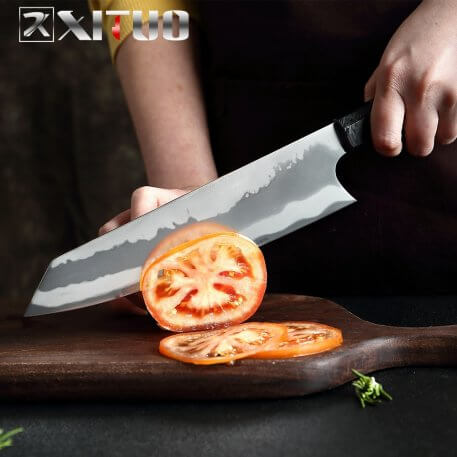 XITUO 8 Inch Kitchen Chef Knife 7 Layer Composite 440C Steel Professional Japanese Knife Cleaver Slicing Gyuto Octagonal Handle