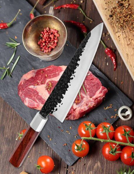 XITUO High Carbon Steel Chef's Knife Japanese Kitchen Knife Handmade Forged Sharp Slicing Cleaver Kiritsuke Gyuto Cooking Tools