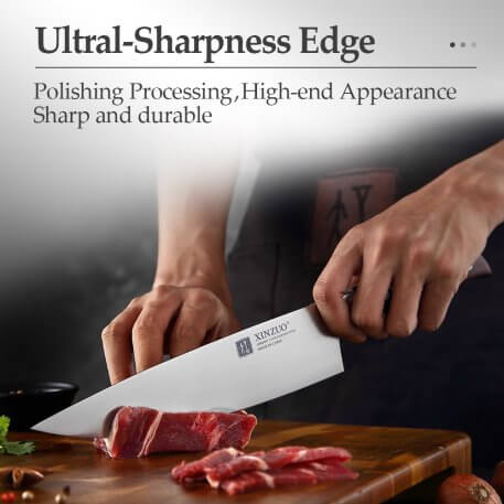 NEW XINZUO Stainless Steel 2PCs Kitchen Knife Set High Carbon Germany 1.4116 Steel Utility Chef Knife Kitchen Chef Cooking Tools