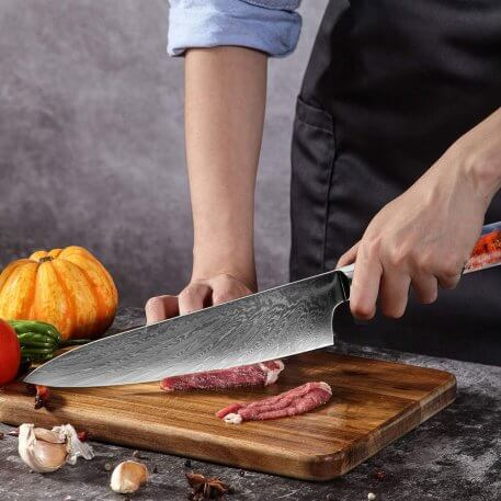 XITUO 1PCS 8 Inch Chef Knife Damascus VG10 Steel Professional Japanese Kitchen Knife Cleaver Stable Wooden Handle Cooking Tools
