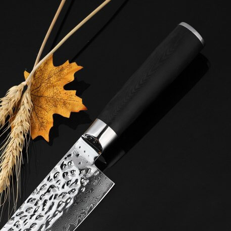 """XITUO High quality 8"""" kitchen knife Japanese Damascus vg10 Steel chef knife Sharp Handmade Santoku Cleaver G10 handle Knives"""