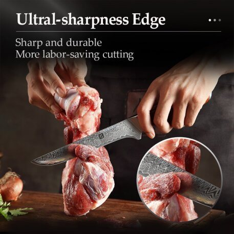 2020 XINZUO 6''inch Boning Knife Damascus Stainless Steel Kitchen Knife Cooking Tools Fillet Fish Debon Knives Rosewood Handle