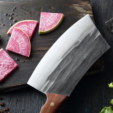 XITUO Handmade Forged Kitchen Knife Hammering Stainless Steel Chef knife Chopper Cooking Knives Wooden handle Butcher knife