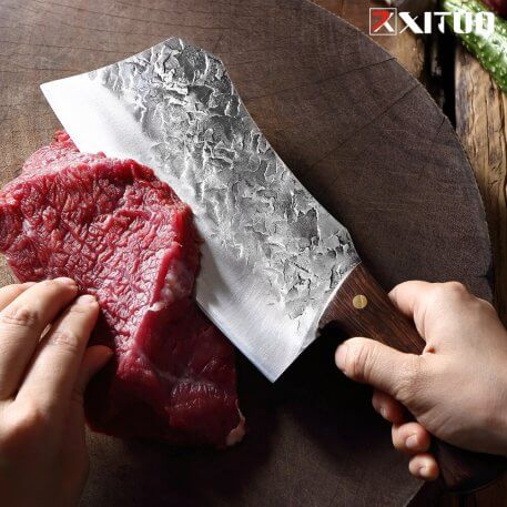 XITUO High carbon stainless steel Chinese knives Handmade Forged Clad Steel Kitchen Chef Knife Butcher Fish Knife