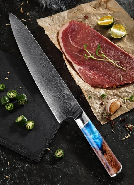 XITUO Chef Knife Damascus VG10 Steel Japanese Kitchen Knife Sharp Cleaver Paring Utility Santoku Knife Resin Handle Cooking Tool
