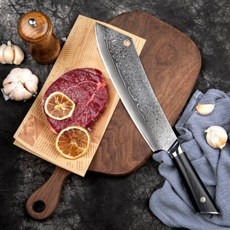 XITUO Damascus Steel Broadsword Professional Chef Knife Beef knife Ultra Sharp Fish knife Cleaver Slice Knives Domineering knife
