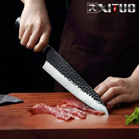 XITUO High Carbon Steel 8 Inch Chef Knife Japanese Hand Forged Non-stick Sharp Slice Meat Knife Fruit Vegetable Cooking Tool NEW