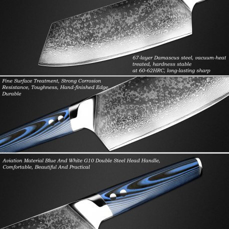 XITUO Chef Knife Damascus Steel vg10 Japanese Knife Sashimi Santoku Tool Blue Kitchen Accessories For Sale New Hot