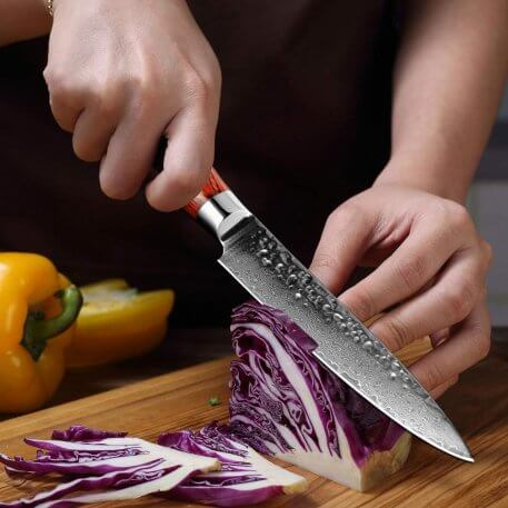 """XITUO 2019 new Damascus Kitchen Paring Knife 5 """"inch Handmade Forged Damascus Filleting Knives Japanese chef knife Santoku tool"""