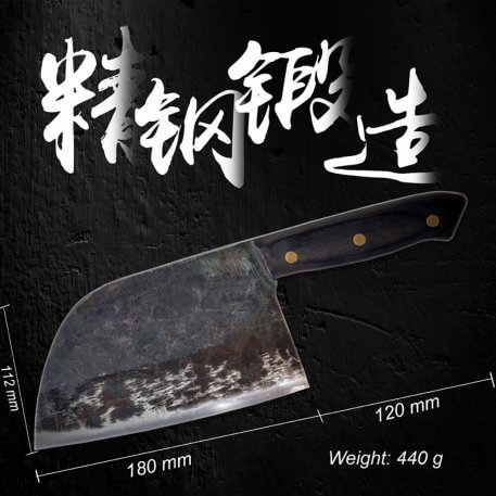 XITUO Handmade Forged Chef Knife Full Tang Chinese Cleaver Kitchen Knives Meat Vegetables Filleting Slicing Butcher knife Broad