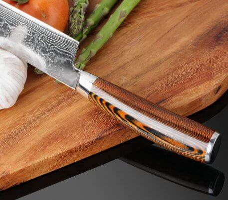 XITUO 4 pcs Kitchen Knives Japane Damascus Steel Knife Chef Boning Paring Utility Color Wood Easily Handle Best Family Gift Tool