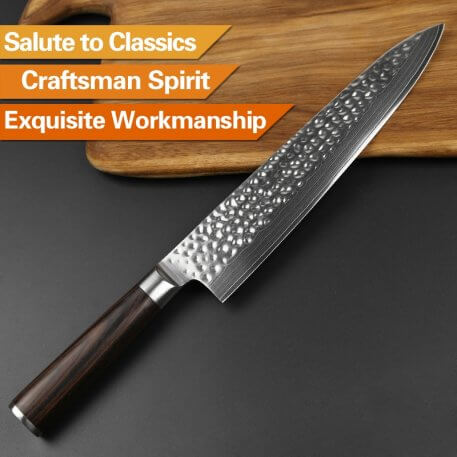 XINZUO 9.5'' inch Chef Knife 240mm Gyuto Knife Japanese VG10 Damascus Stainless Steel Butcher kitchen Knives Pakka Wood Handle