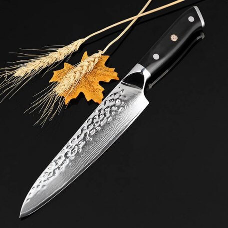 """XITUO Damascus Steel Chef Knife 67 Layers Japanese VG-10 Damascus Steel Kitchen Knife 8"""" Inch Handmade Santoku Cleaver Tool Gif"""