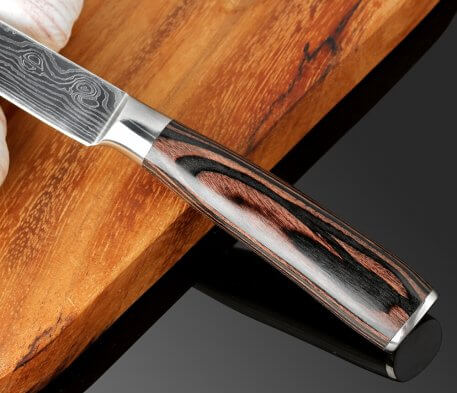 """XITUO High quality 5""""inch Chef knife Utility Paring Knives Imitation Damascus steel kitchen Peeling Knives Sharp Steak Knives"""
