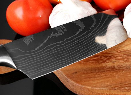 XITUO New Style 7''Japan Santoku Chef knife Stainless Steel Imitate Damascus Pattern Kitchen Knife Utility Knife Vegetable Knife