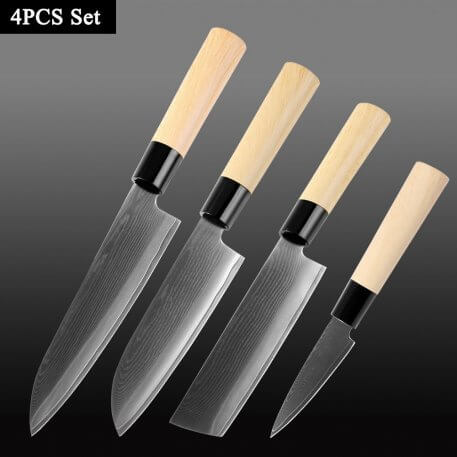 XITUO Damascus Steel Chef Knife Japanese Style Sushi Salmon Filling Santoku Utility Knives Professional Kitchen Cooking Tools