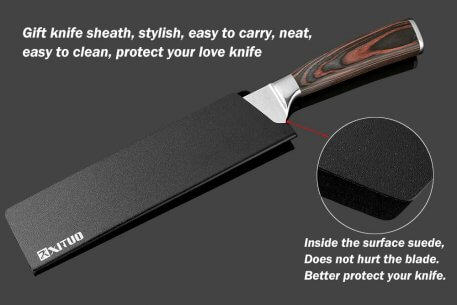 """XITUO New Chef Knives 8""""inch Handmade Forged 7Cr17Mov Stainless Steel Sharp Kitchen Knife Santoku Filleting Cleaver Slicing Tool"""