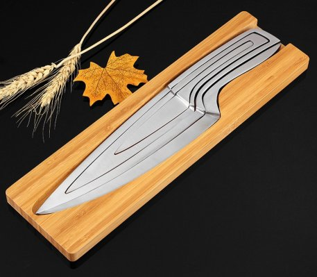 XITUO 4pcs Multi Kitchen knives Stainless steel Cascading knife combination Sets Chef knife peeler Boning Cleaver Utility Knives
