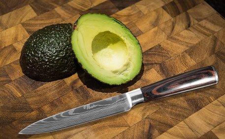XITUO Utility Knife 5 inch Stainless Steel Sharp Paring knives Cut Vegetables Laser Damascus Pattern Kitchen Steak Knives New