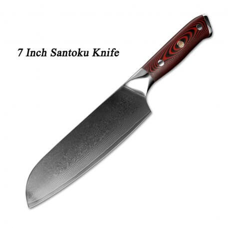 XITUO Damascus Chef Knife Professional Japanese Santoku Utility Cleaver Sliced Vegetables Home Restaurant Kitchen Cooking Tools