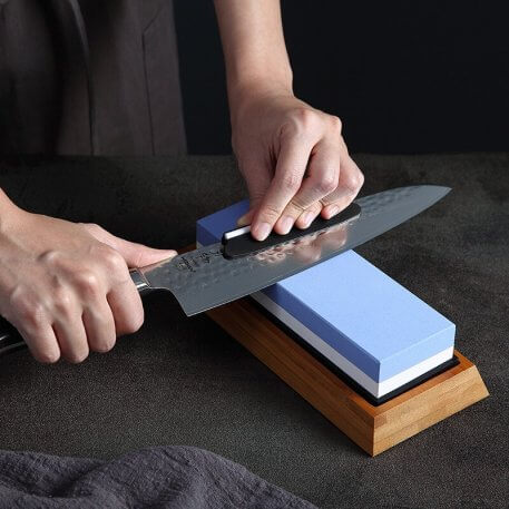 XINZUO Double Side 1000/6000 Grit Whetstone Professional Knife Sharpener Sharpening Grinding Stone Kitchen Knife Accessories