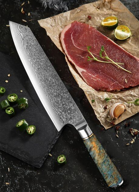 XITUO 1PCS Damascus VG10 Steel 8-inch Chef Knife Professional Japanes Kiritsuke Gyuto Cleaver Slicing Kitchen Knife Cooking Tool