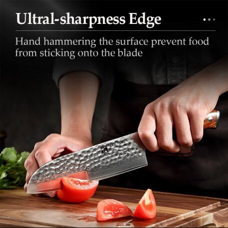 """XINZUO 7"""" inch Santoku Knife Japanese Damascus Steel VG10 Kitchen Chef Knives Stainless Steel Kitchen Tools"""