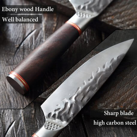 XITUO High carbon stainless steel Chef knife Hand forged Boning Knife Sharp split knife slaughter special knife Free Leathercase