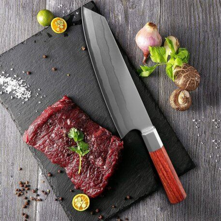XITUO 8 Inch Chef Knife 7 Layer Composite Steel Professional Japanese Kitchen Knife Cleaver Sushi Gyuto Knife Octagonal Handle
