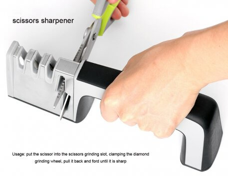 XITUO Kitchen Knife Sharpener 4 Stages 4 in 1 Diamond Coated& Fine Ceramic Rod Knife Shears and Scissors Sharpening System Tools