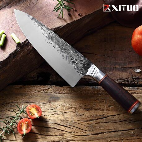XITUO Forged Boning Knife Ingenuity Forge Chef Knife Ultra Sharp split knife slaughter special knife Family Hotel kitchen knife